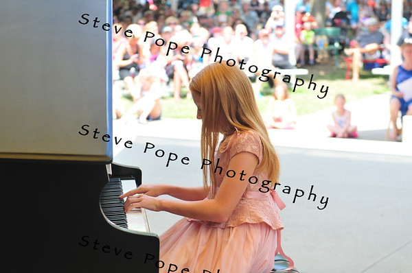 Rylie Becker, 12, of Humboldt, performs a piano solo in the Bill Riley Talent Search at the Iowa State Fair on Aug. 15. (Iowa State Fair/ Steve Pope Photography)