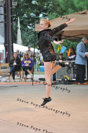 Elyssa Wilson, 17, of Mason City, performs a tap dance in the Bill Riley Talent Search at the Iowa State Fair on Aug. 19. (Iowa State Fair/ Steve Pope Photography)