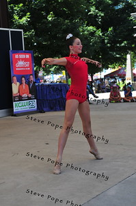 CiCi Chiodo, 12, of Des Moines, performs a musical theater dance in the Bill Riley Talent Search at the Iowa State Fair on Aug. 14. (Iowa State Fair/ Steve Pope Photography)