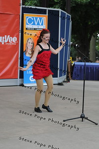 Oonagh Ahouse, 14, of Waukon, performs a musical theater vocal solo in the Bill Riley Talent Search at the Iowa State Fair on Aug. 14. (Steve Pope Photography/ Iowa State Fair)
