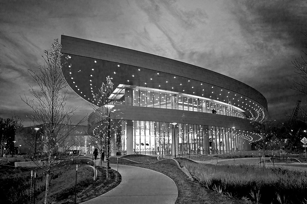 UI Hancher Auditorium In B&W