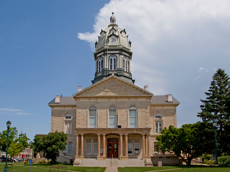 Madison County Courthouse view 1.  Located in Winterset, IA