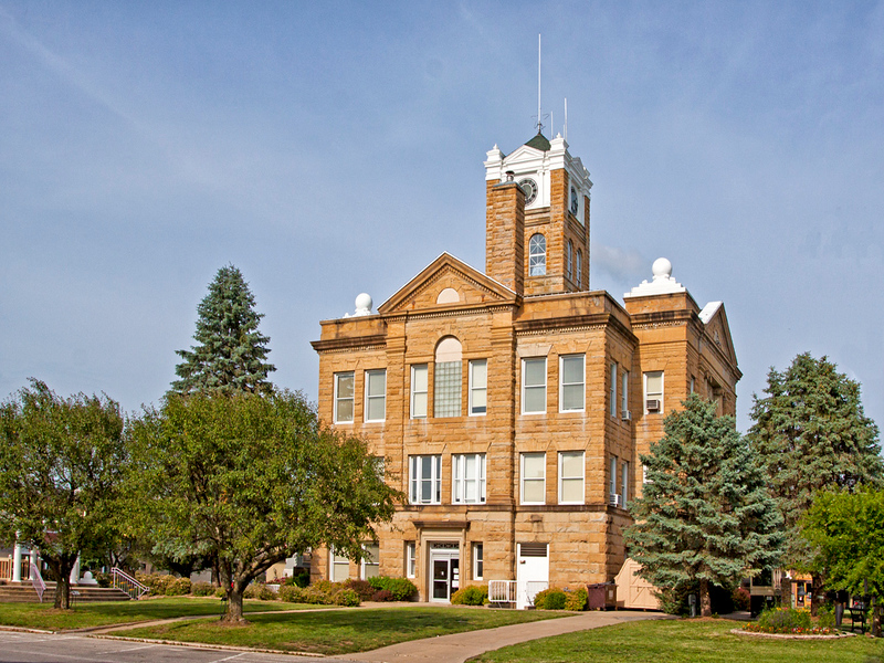 Monroe County Courthouse view 1.  Located in Albia, IA