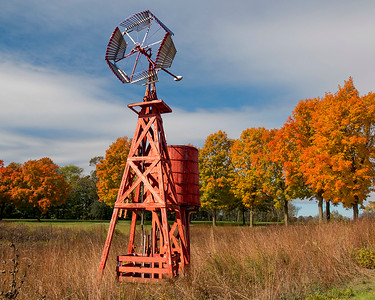 Orange Fall Color-Windmill-46