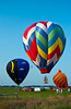 Hot air balloon rally in the Amana Colonies, Iowa, USA, America.