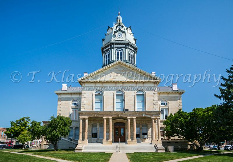 The Madison County Courthouse in Winterset, Iowa, USA.