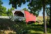 The historic Cedar Covered Bridge near Winterset, Iowa, USA.
