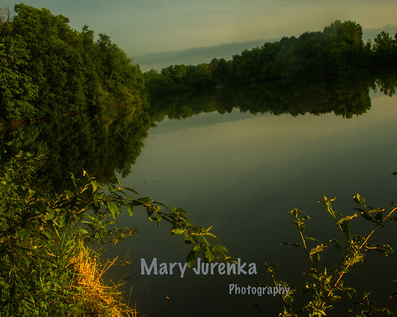 Late Spring sunset on Hickory Grove Lake in Iowa.