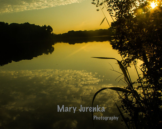 Late Spring sunset on Hickory Grove Lake.
