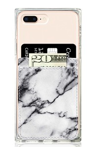 White Marble Faux Leather Pocket $10