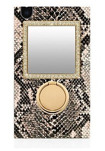 Python case shown with Gold Crystal Mirror and ring