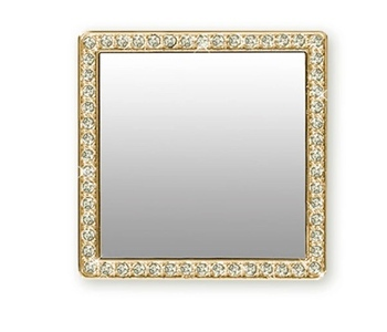 Square Mirror Gold Crystals - $10