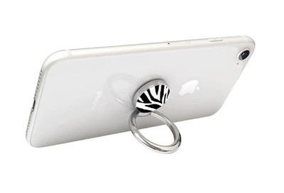 View of Ring as a stand for your phone