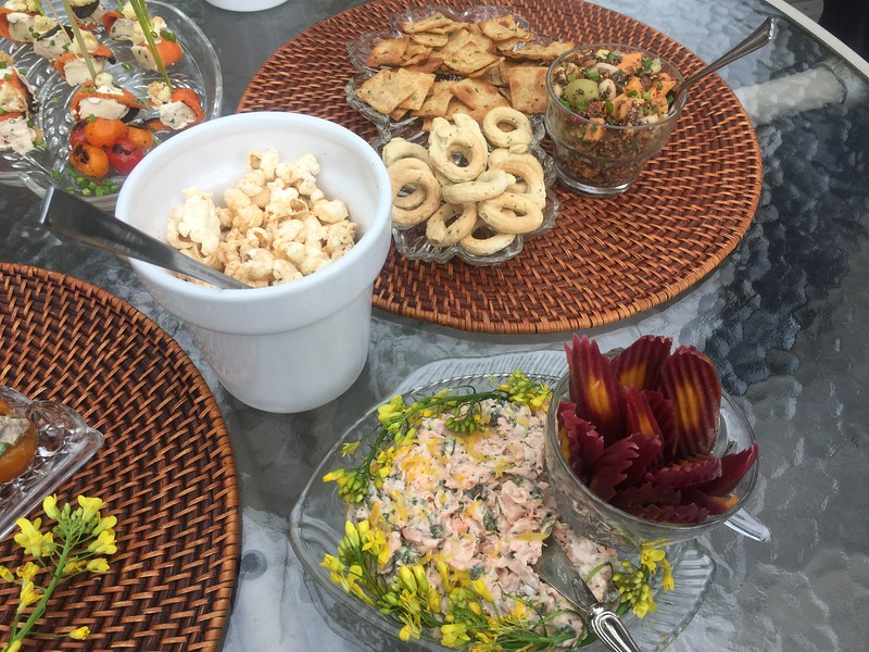 memorial day hors d'oeuvres with Lisa Cannon