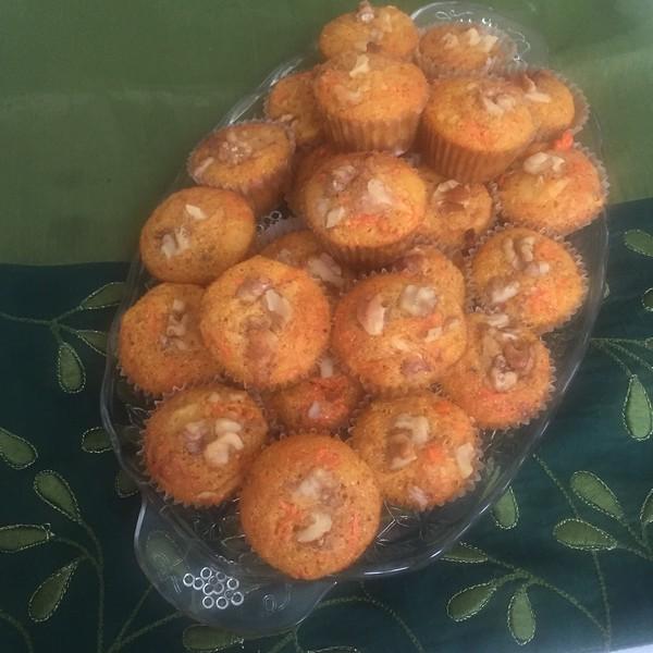 indian fusion  masala carrot cake muffins