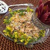 dill + creme fraiche poached salmon salad