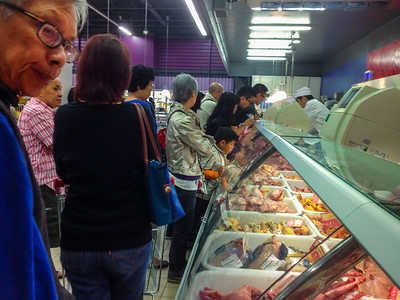 Paris, France,  Chinese Immigrants Shopping in Tang Frere Supermarket,
