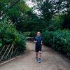 Paris, France, Street Scenes, Summer, 12th District Senior Man Jogging in Park
