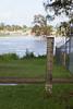Flood marker - Perry St Churchill - 12 Jan 2011