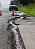 Road damage - Perry St Churchill - 12 Jan 2011