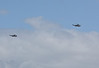 Two Navy Sea Kings flying over Ipswich - 12 Jan 2011