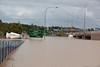 Brisbane Rd crossing the Woogaroo Crk looking from Gailes towards Goodna - 13 Jan 2011