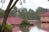 Warwick Rd Churchill - Unilink buildings surrounded by water after Deebing Creek broke its banks - 12 Jan 2011