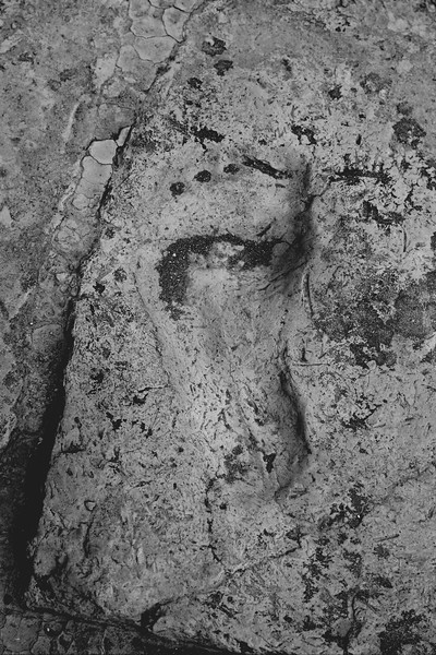 Foot Print at Chogha Zanbil,  Khuzestan Province of Iran, 2016