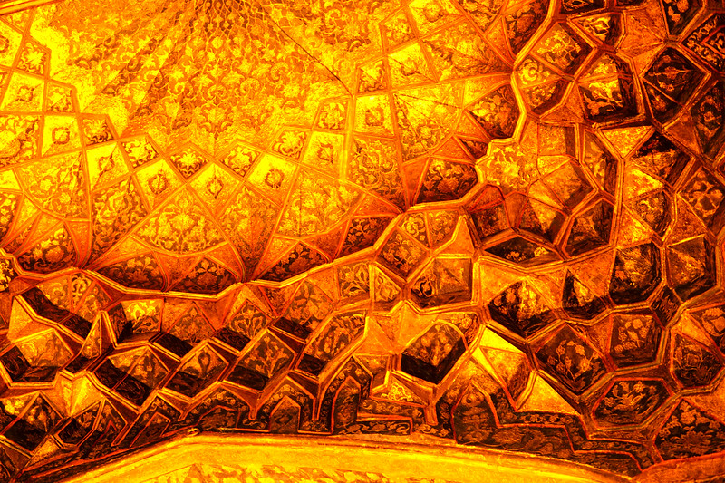 The Ceiling in Sheikh Safi al-Din Shrine , Ardabil, Iran, 2016