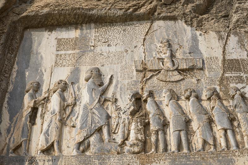 Darius the Great at Behistun, Kermanshah Province, Iran, 2016