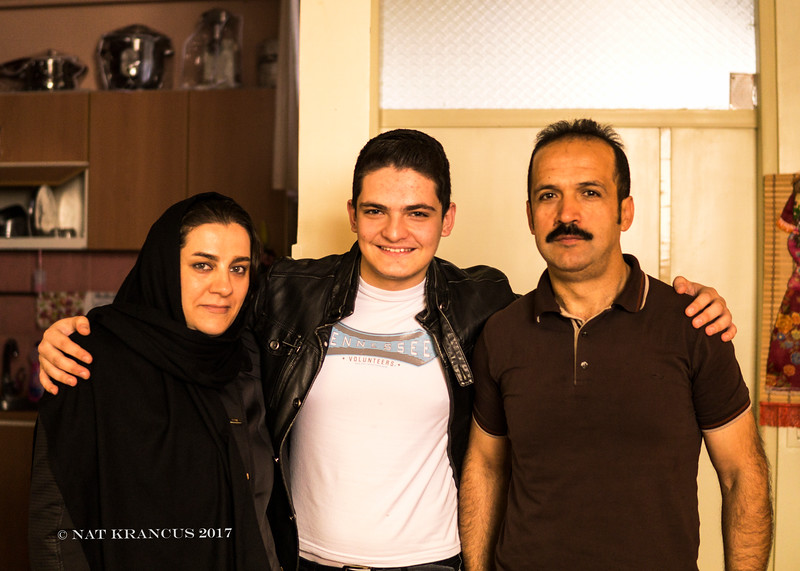 Family in Tabriz, Iran, 2016