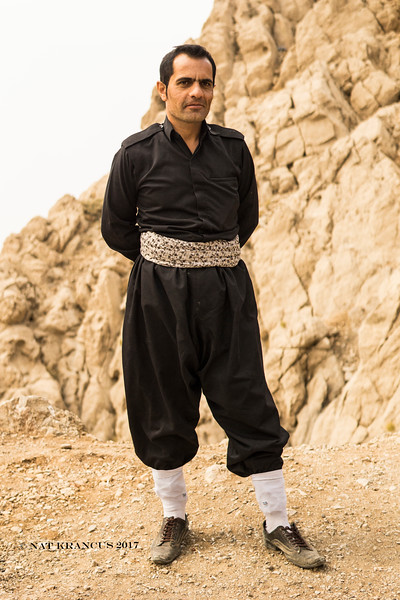 Kurdish Smuggler in Traditional Clothes, Kurdistan Province, Iran, 2016