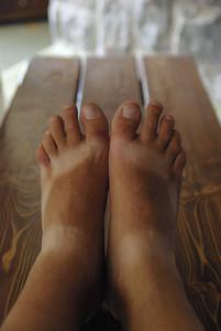 Deńko mi nogi sie opalily