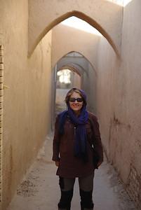 Marta w uliczkach Yazdu