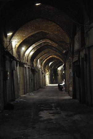 Opustoszale uliczki bazaru