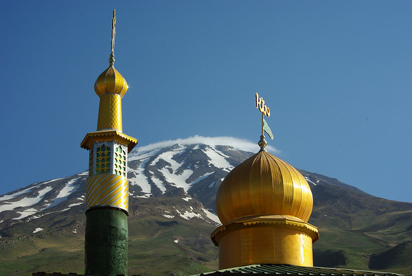 Widok na Damavand z 2 obozu (przy meczecie)