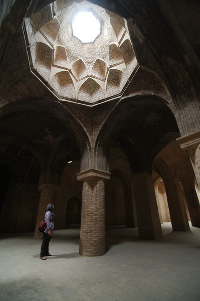 Inside the Jameh Mosque