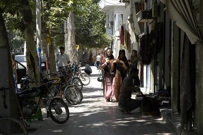Turkman women doing shopping in Gunbad.