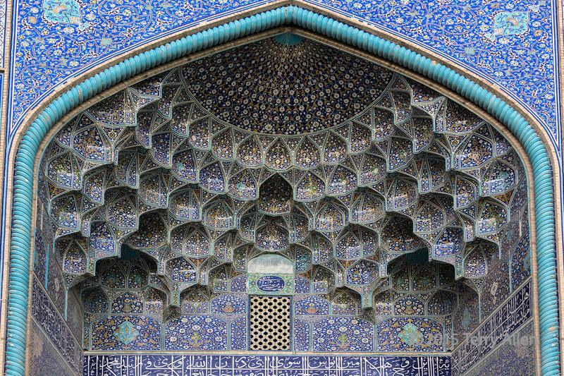 Portal of the Lotfollah Mosque, Naghsh-e Jahan Square, Isfahan, Iran