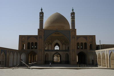 This picture was taken from inside the mosque courtyard.