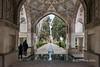Soleymanieh spring and interior of Safavid Shotor Galou, Bagd-e-Fin, Kashan, Iran