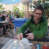 Tea break to escape the Masouleh rain