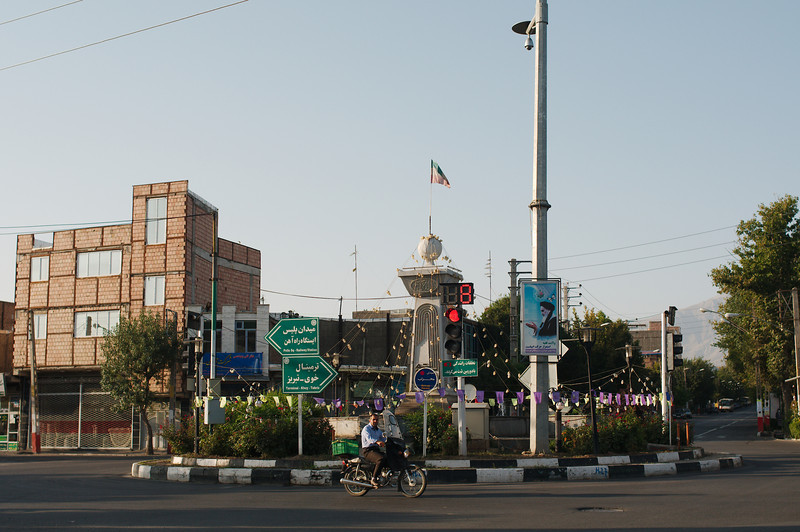 There are lots of roundabouts in Iran, they all feature decorative elements