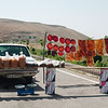 Sheets of dried fruit on the road to Tabriz