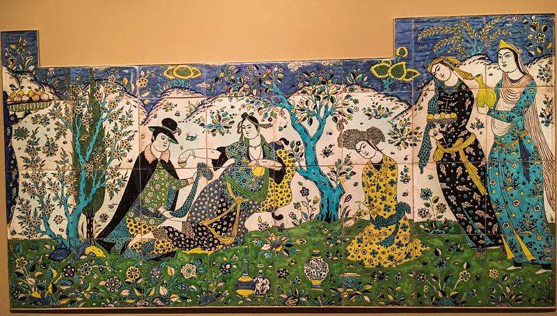 Safavid Tile Panel