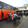 Loading our bikes into the Tehran-bound bus (for the first time)
