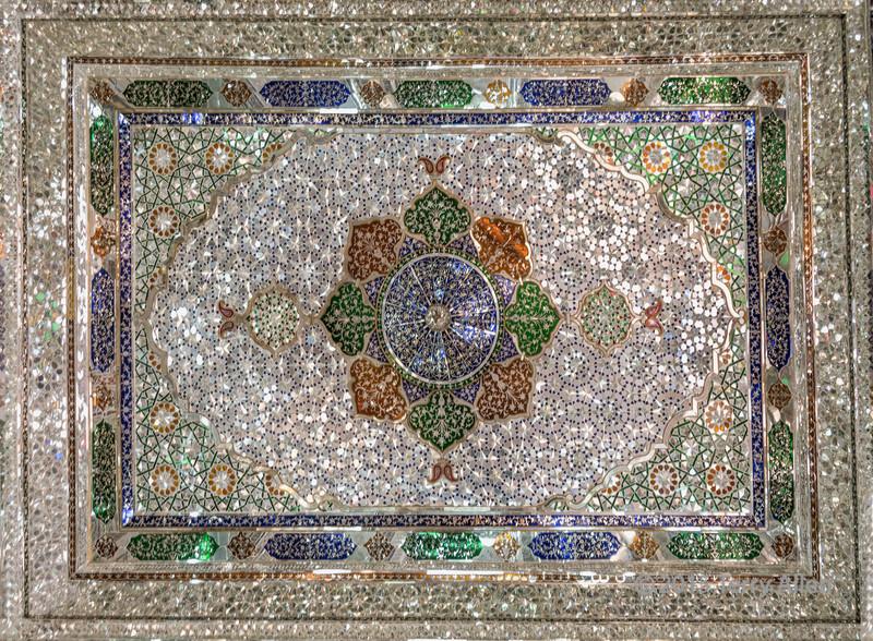 Mirrored-mosaic-tile-ceiling,-mirror-hall,-Zinat-ol-Molouk-House,-Shiraz,-Iran