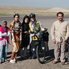 A family from Shirvan who stopped to greet us