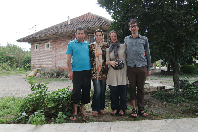 Our Talesh hosts, the lovely Sam and Zahra