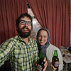 Enjoying Iranian non-alcoholic pomegranate beer in our Tabriz hotel